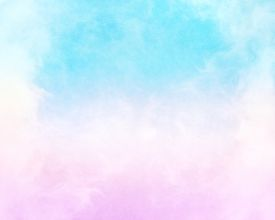 pic of blue  - Clouds and fog with a pink to cyan - JPG
