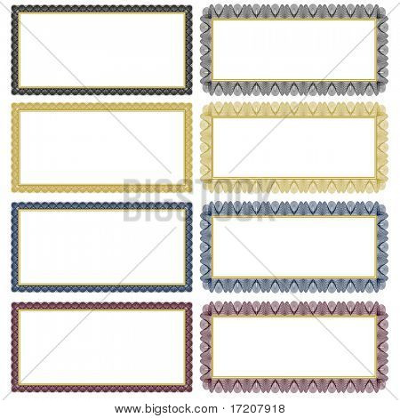 Set of ornate vector frames. Easy to edit. Perfect for gift certificates, invitations or announcements.