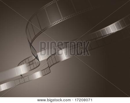 Photo film background, 3d rendering
