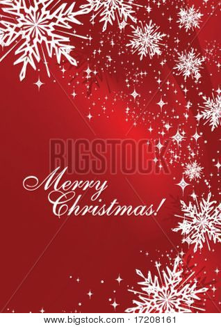 Christmas card with copy space, vector illustration.