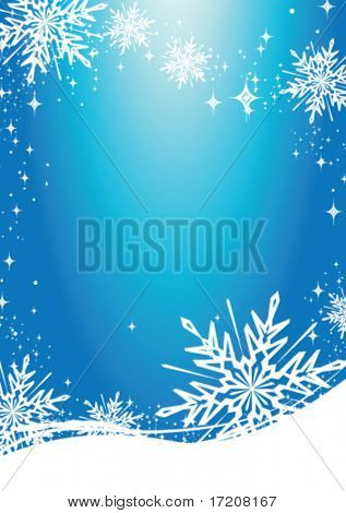 Christmas card with copy space, vector illustration