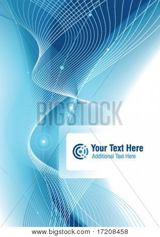 Vector abstract cover design with copy space