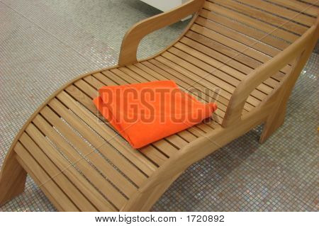 Relax Chair With Orange Towel