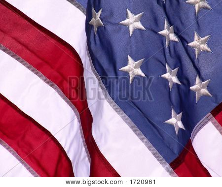 Usa Flag Closeup
