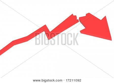 red crash diagram a white background