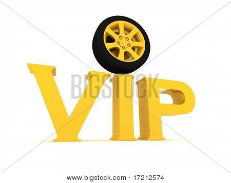 Gold vip with a wheel