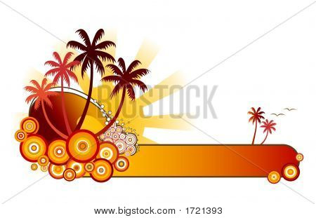 Tropical Banner-Red