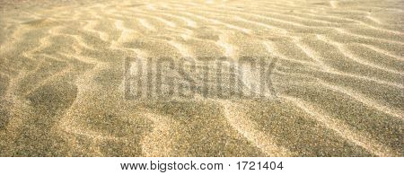 Beautiful Rippled Effect On Sandy Beach.