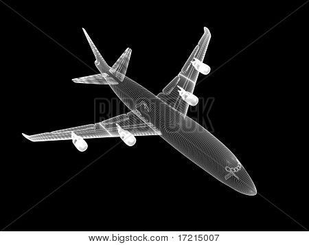 3D model of jet airplane