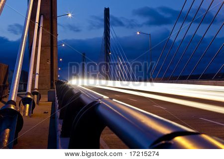 Golden Ears Bridge Before Sunrise