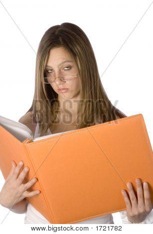 Teen Girl Not Happy Reading