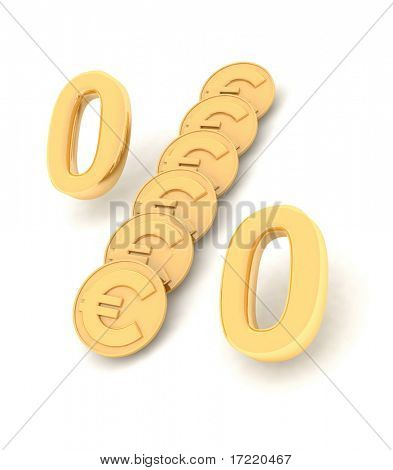 gold procent coin EURO