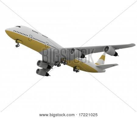 Airplane isolated on white background