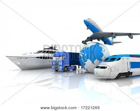 Verkehr-Ressourcen mit einem Globus
