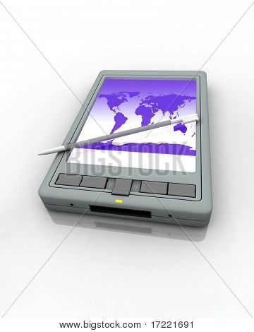 Pocket PC a white background