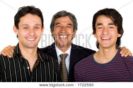 Business Father With His Sons