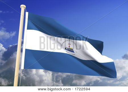 Nicaragua Flag (Clipping Path)