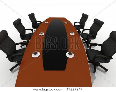 table for negotiations
