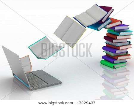 books fly into your laptop