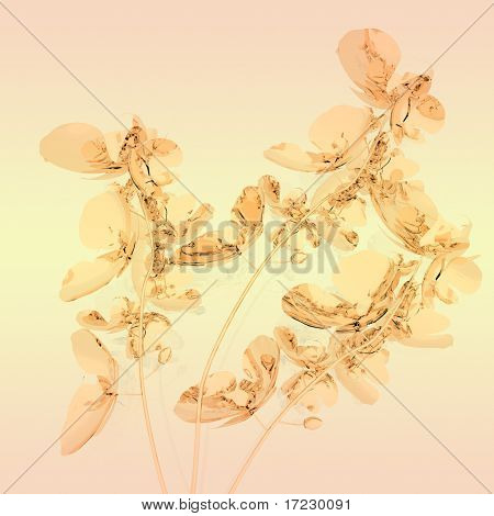 peachy orchids on peachy background