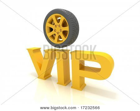 vip with a wheel