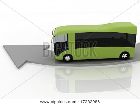 pointer of direction of motion of bus