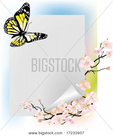 Beautiful vector illustration with butterfly