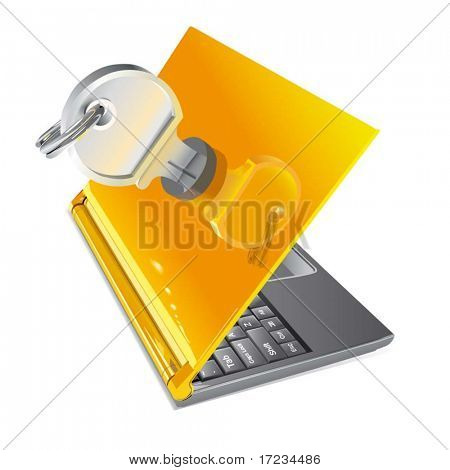 Vector Notebook com chave