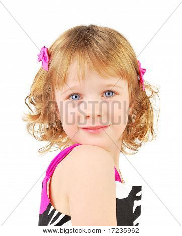Retrato de uma menina feliz