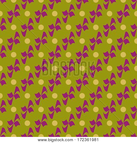 Flower polka dot geometric seamless pattern. Fashion graphic background design. Modern stylish abstract color texture. Template for prints textiles wrapping wallpaper website. Stock VECTOR