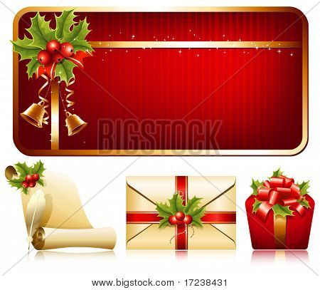 Vector christmas background. Christmas decoration.