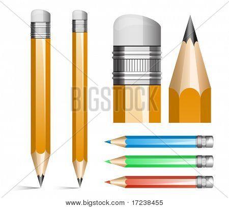 Vector illustration of pencils