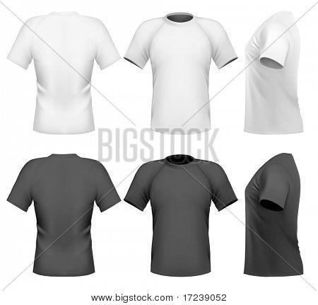 Ilustración del vector. Plantilla de diseño de camiseta de los hombres