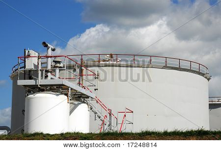Oil Storage Tank At An Oil Refinery