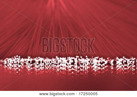 Red Optical Fiber Strands