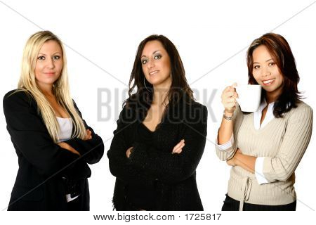 Diverse Female Business Team With Three