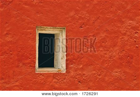Window In Orange Wall
