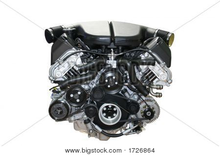 Car Engine Isolated