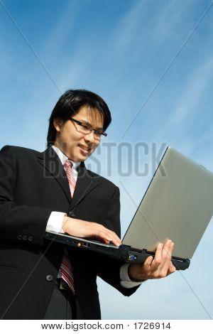 Arbeitenden Geschäftsmann