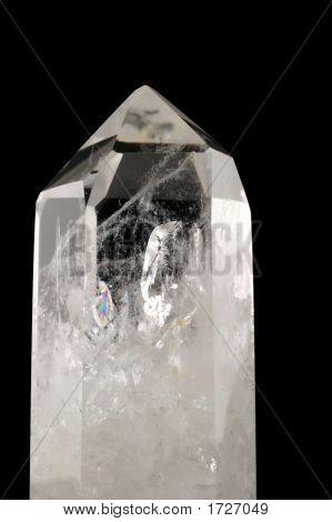 Quartz Crystal - Black Background