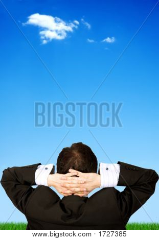 Business Man Relaxing Outdoors