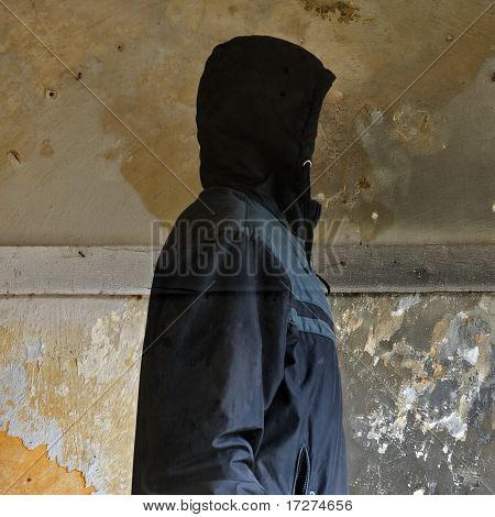 Invisible Man In Abandoned Interior