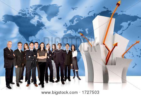 Business Team Of Success