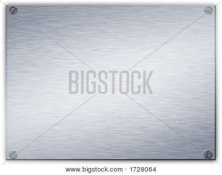 Brushed Steel Metal Plaque