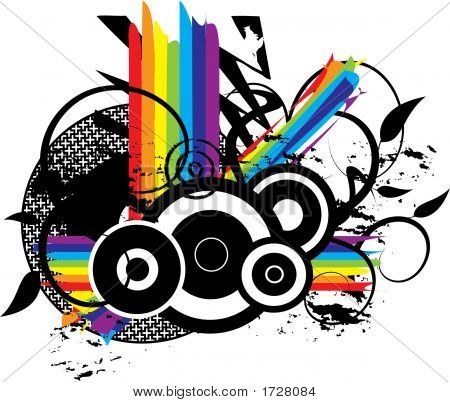 Rainbow Grunge Background Illustration