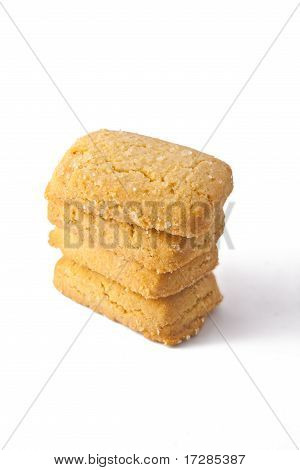 Square Style Cookies Isolated On White Background