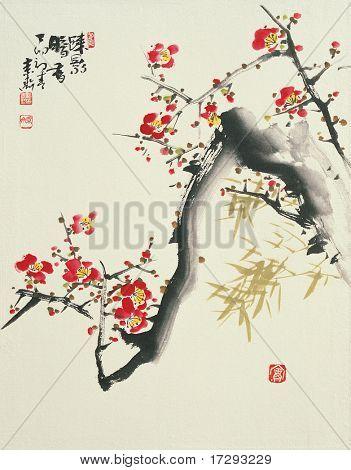 Asiatische traditionelle Malerei