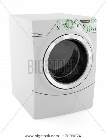 modern wash machine isolated on white background