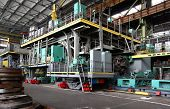 Manufacture Of Water Turbines. The Huge Machine Turbine Production. Large Parts Of The Plant. poster