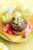 Easter eggs and Easter cupcakes poster